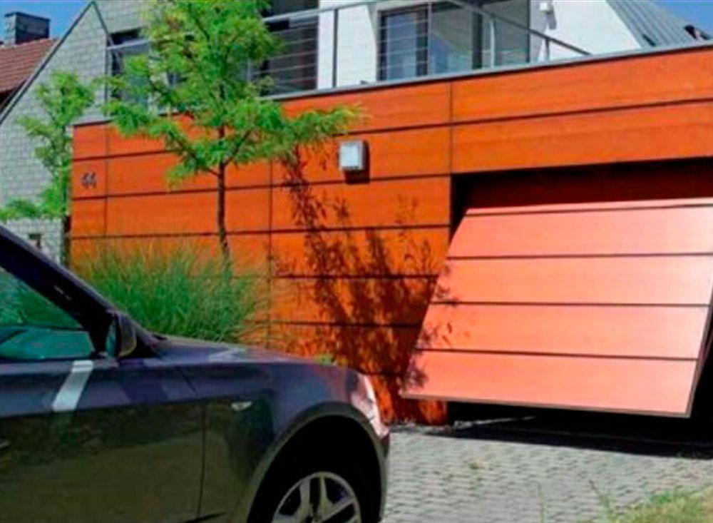 Puerta basculante residencial autom tica puertas - Automatismo puerta basculante ...
