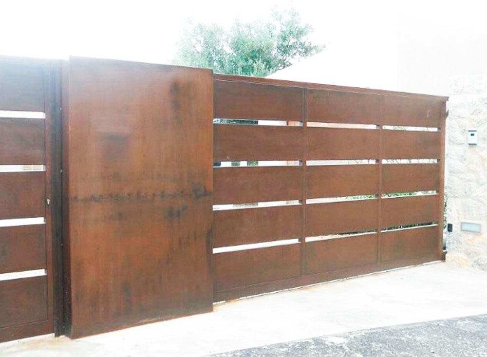 Puerta corredera residencial autom tica puertas for Puerta corredera de castorama corredera