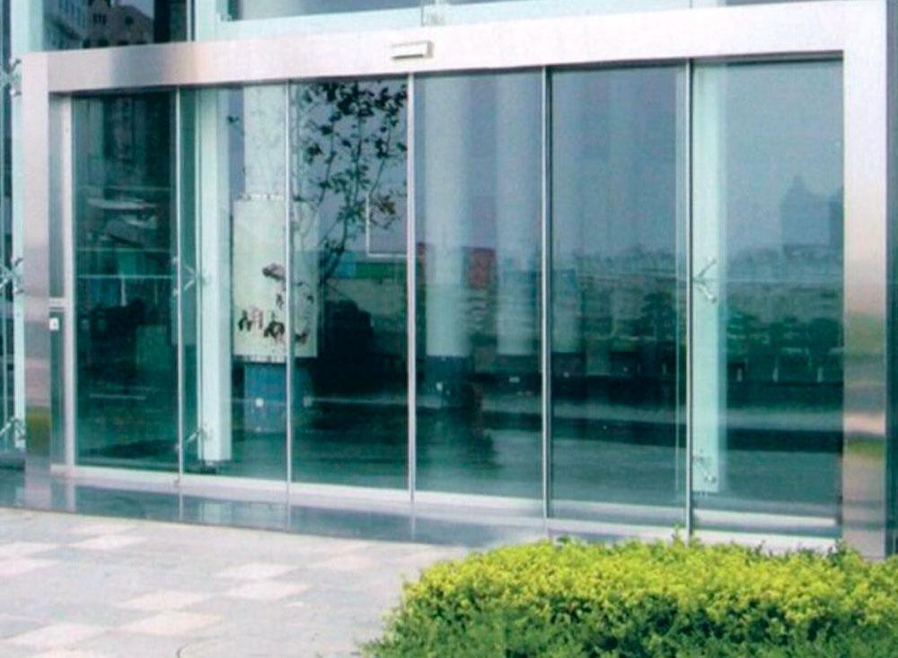 Puerta corredera cristal automatica ref with puerta for Puerta corredera cristal