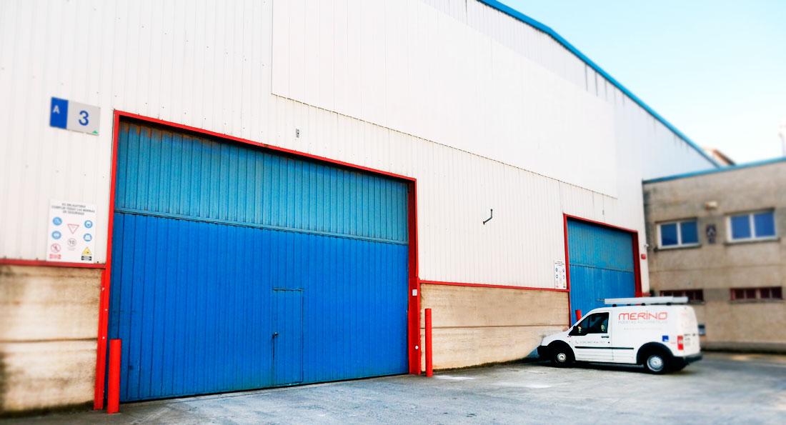 Puerta preleva Industrial Automática - Puertas Merino